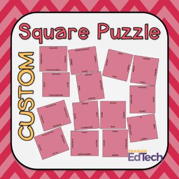 Square Vocabulary Puzzle Template