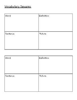 Vocabulary Squares