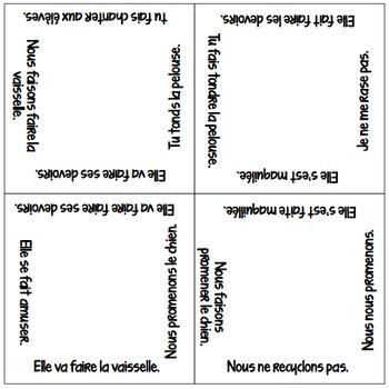 Vocabulary Squares: Causative Faire