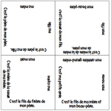 NEW & IMPROVED! Vocabulary Squares: Family Relationships & Possessive Adjectives