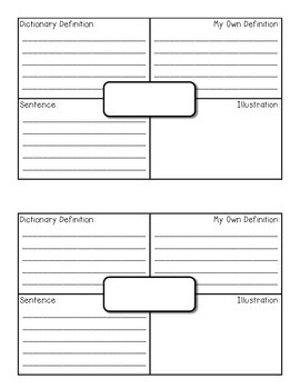 Vocabulary Squares (Frayer Model Vocabulary Booklets) *FREEBIE*