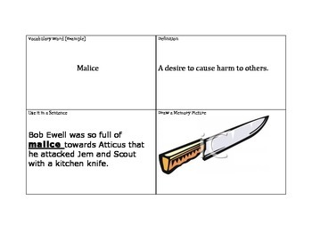 Vocabulary Squares Lesson Plan