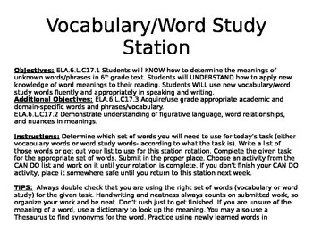 Vocabulary Station