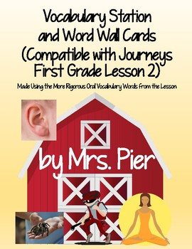 Vocabulary Station (Compatible with Journeys First Grade Lesson 2)