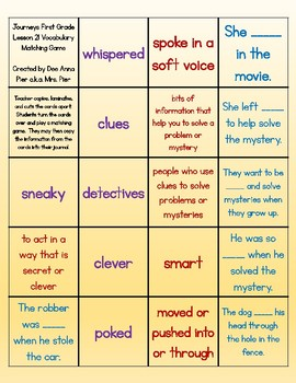 Vocabulary Station (Compatible with Journeys First Grade Lesson 21)