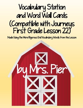Vocabulary Station (Compatible with Journeys First Grade Lesson 22)