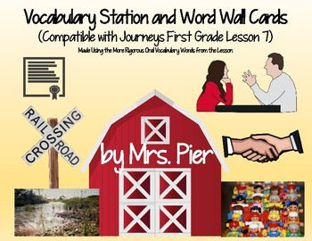 Vocabulary Station & Word Wall Cards (Compatible w/ Journeys 1st Grade Lesson 7)