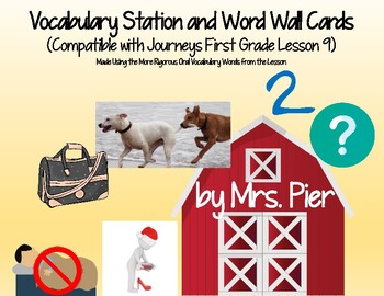Vocabulary Station & Word Wall Cards (Compatible w/ Journeys 1st Grade Lesson 9