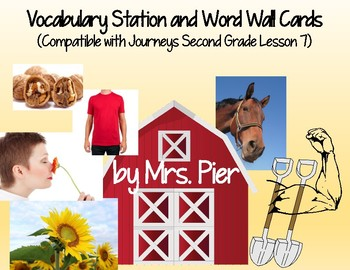 Vocabulary Station & Word Wall Cards  (Compatible w/ Journeys 2nd Grade Less. 7)