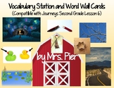Vocabulary Station & Word Wall Cards (Compatible w/ Journeys 2nd Grade Lesson 6)