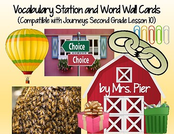 Vocabulary Station & Word Wall (Compatible w/ Journeys 2nd Grade Lesson 10)