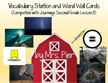 Vocabulary Station & Word Wall (Compatible with Journeys Second Grade Lesson 8)