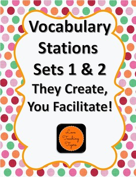 Vocabulary Stations 1 & 2: They Create - You Facilitate!