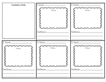 Vocabulary Stations to go with ANY words!