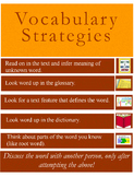 Vocabulary Strategies Anchor Chart
