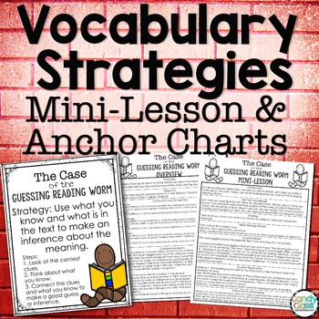 Vocabulary Strategies Anchor Charts & Mini-Lessons