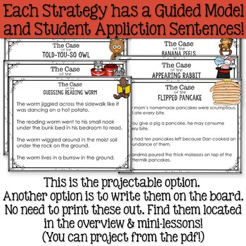 Vocabulary in Context Anchor Charts, Mini-Lessons & Projectable Guided Models