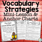 Vocabulary in Context Anchor Charts, Mini-Lessons & Projec