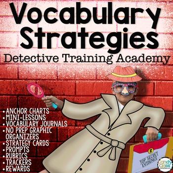 Vocabulary Strategies Bundle: Context Clues & Vocabulary Graphic Organizers