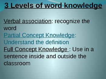Vocabulary Strategies PPT for Teachers