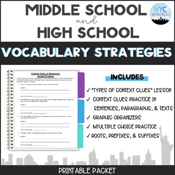 Vocabulary Strategies Packet