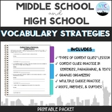 Vocabulary Strategies Packet