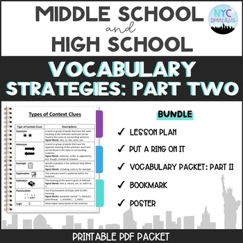 Vocabulary Strategies Packet-Part Two-Bundle!