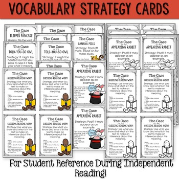 Vocabulary Strategies Strategy Cards & Vocabulary Journal