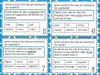 Vocabulary Strategies Task Cards