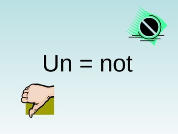 Vocabulary Strategies Word Parts (un) Powerpoint and Asses