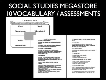 Vocabulary Strategies and Formative Assessment Bundle