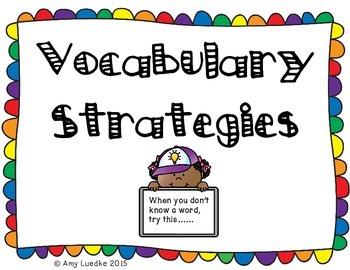 Vocabulary Strategy Anchor Charts