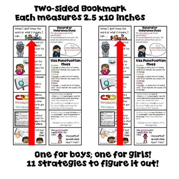 Vocabulary Strategy Bulletin Board! Plus Bookmark! Grades 3 and up!