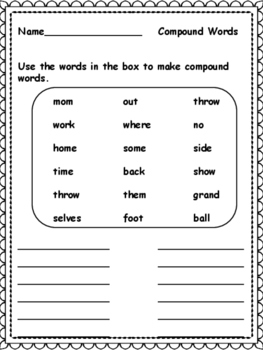 Vocabulary Strategy: Compound Words