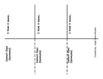 Vocabulary Strategy Flip-book (Wonders Reading)