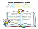 Vocabulary Strategy Poster and Rap