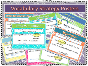 Vocabulary Strategy Posters