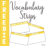 Vocabulary Strips