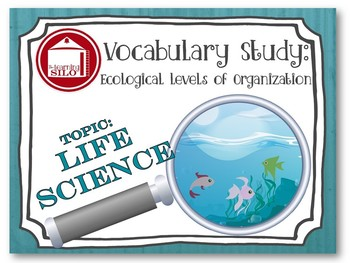 Vocabulary Study - Ecological Levels of Organization