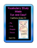 Vocabulary Study Made Fun and Easy