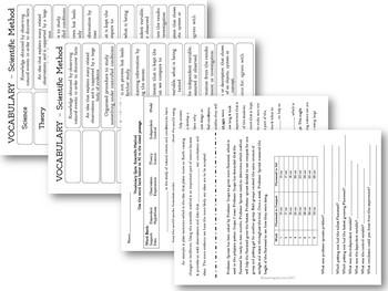Vocabulary Study - Scientific Method