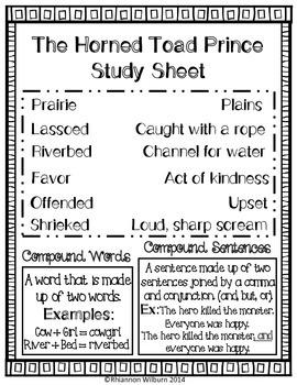 Reading Street Vocabulary Study Sheets Unit 1