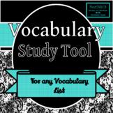 Vocabulary Study Tool