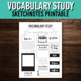 Vocabulary Study Worksheet / One Pager Printable