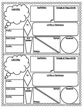 Vocabulary Study and Work Sheet