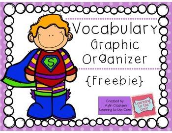 Vocabulary Graphic Organizer {Freebie}