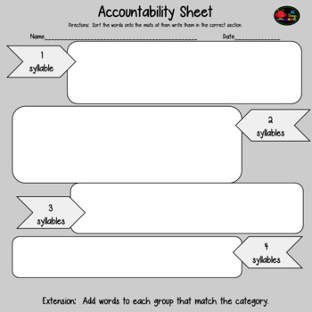 Vocabulary Syllable Sort- Bundle