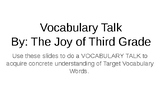 "Vocabulary Talk- Journeys ""A Fine, Fine School"""