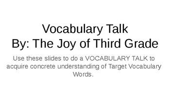"Vocabulary Talk- Journeys Lesson 2: ""The Trial of Cardigan Jones"""