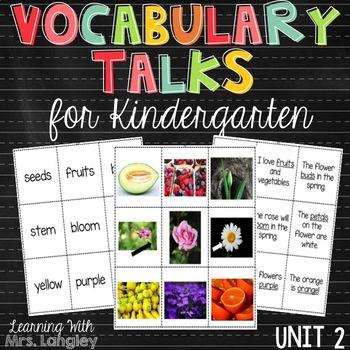 AMAZING WORDS Vocabulary Talks Kindergarten Unit 2